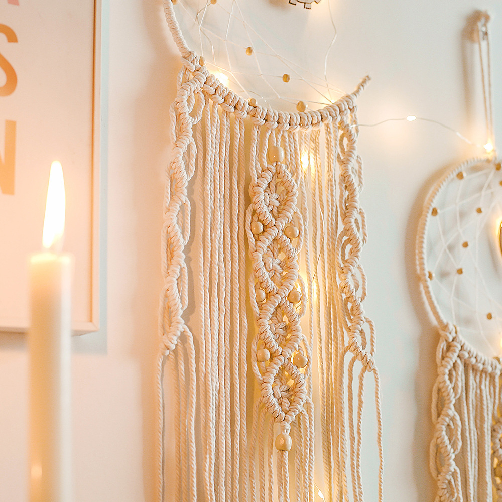 Bohemian Tassel Macrame Woven Wall Hanging Tapestry Home Art Decor Craft Gift