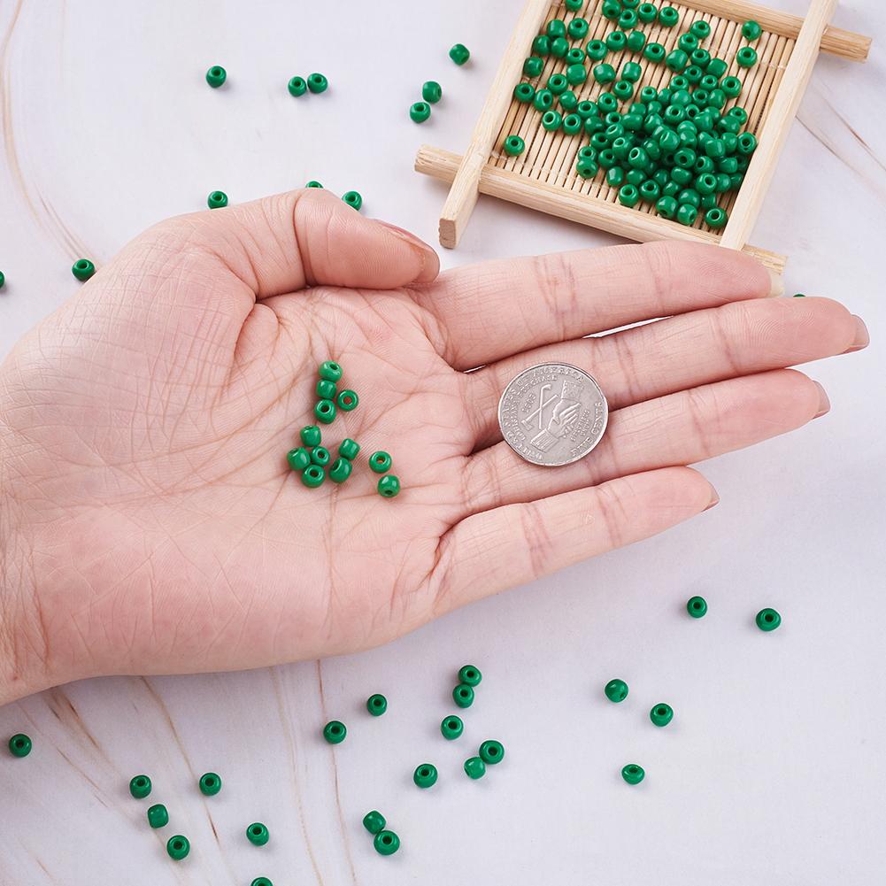 495pcs//50g Opaque Glass Tiny Beads 6//0 Loose Bead Spacers Beading DIY Craft 4mm