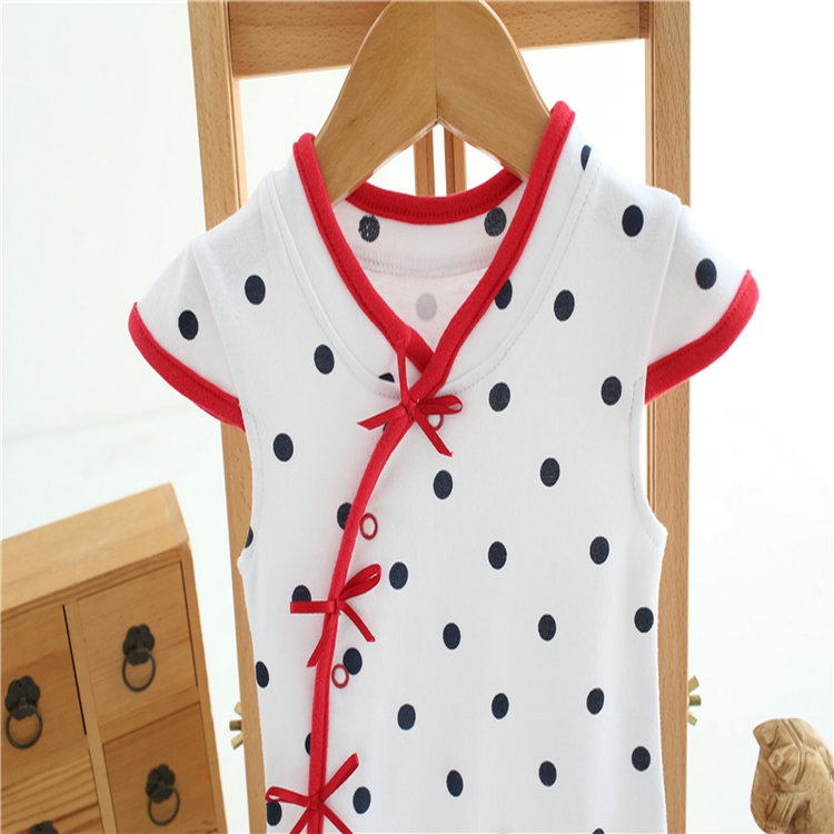 1pc baby clothes infant girls summer cotton Chinese-style dress bodysuit