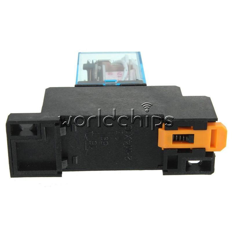 Relé de bobina de alimentación DC 12V nuevo LY2NJ interruptor DPDT de 8 Pines HH62P JQX-13F con base de zócalo