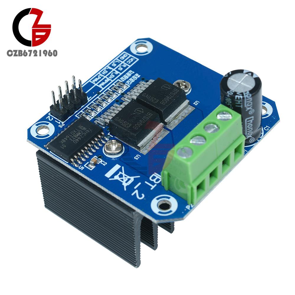 1-10Pcs Double BTS7960B DC Stepper Motor Driver H-Bridge PWM Board For Arduino