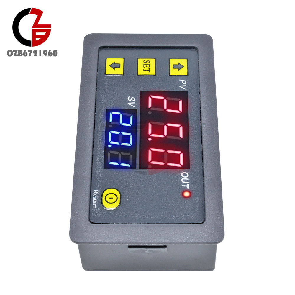 12V Automation Cycle Timer Delay Control Switch Relay Module w// Dual LED Display