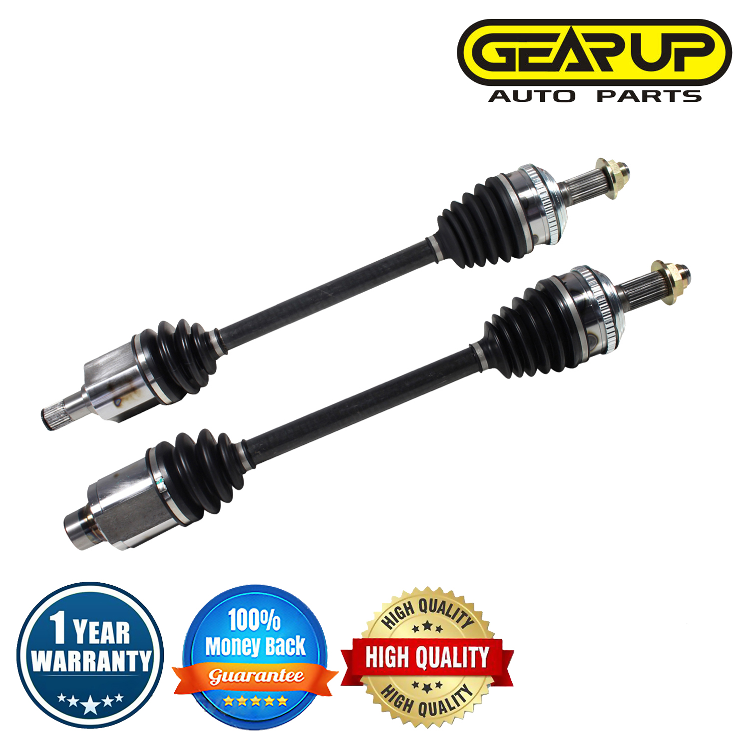Front Pair CV Axle Joint Assembly For Acura MDX Touring Base Sport
