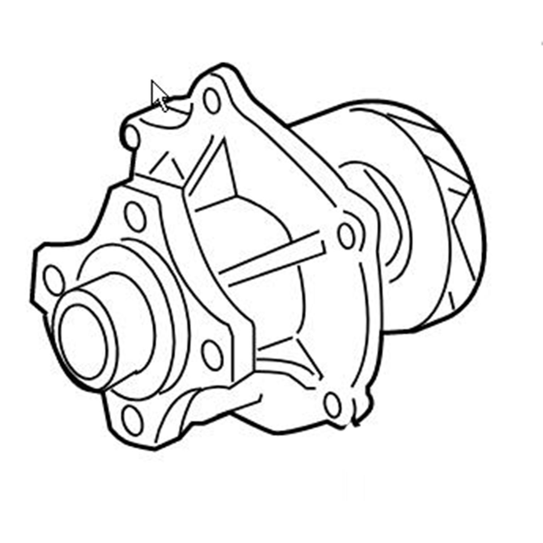 water pump for 02 09 chevy trailblazer olds saab isuzu i370 9 7x 4 2 2005 Saab 9 7X Linear water pump for 02 09 chevy trailblazer olds saab isuzu i370 9 7x 4 2l 3 7l 2 8l