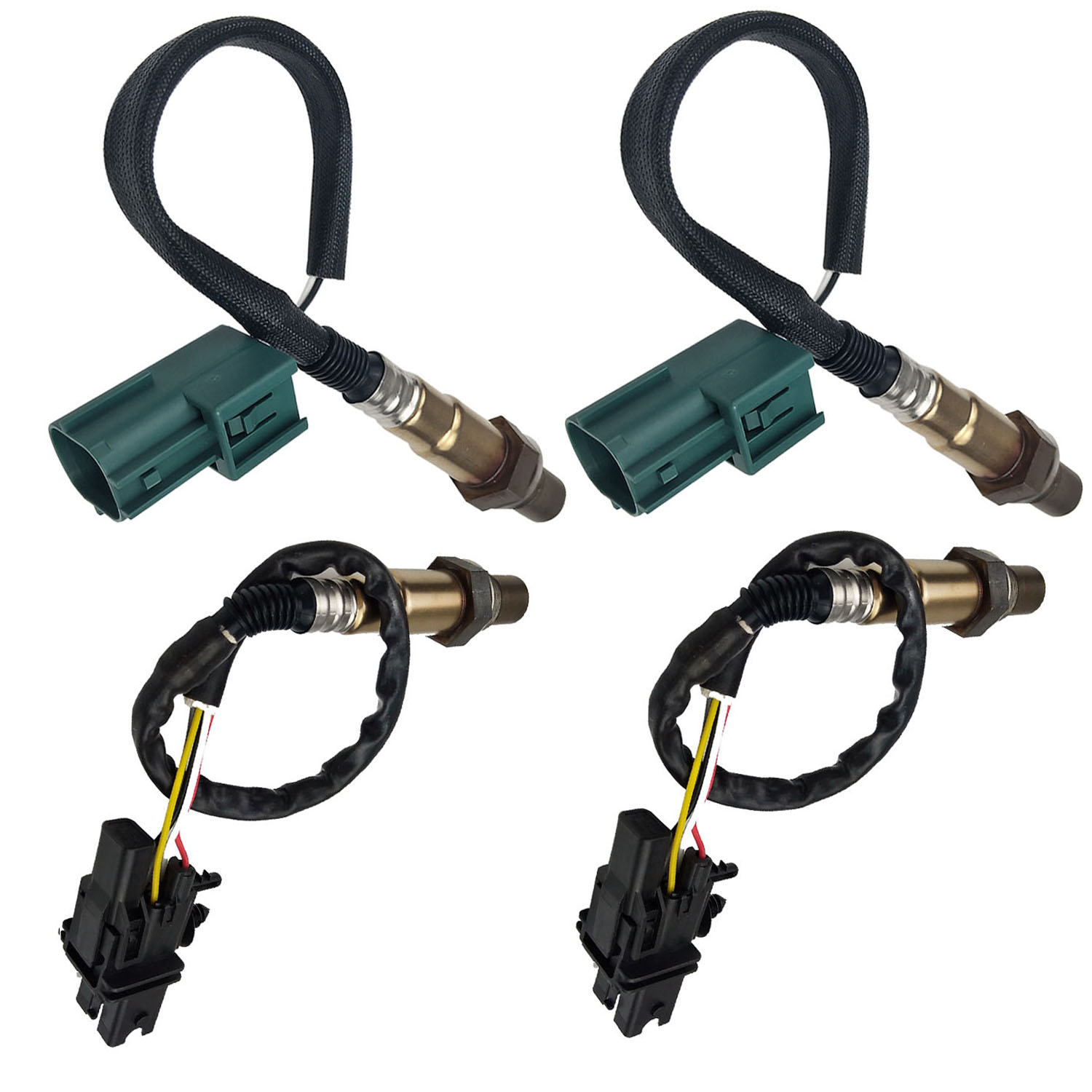 4Pcs Air Fuel Ratio O2 Oxygen Sensor Up /& Down For Infiniti Nissan Titan 5.6L