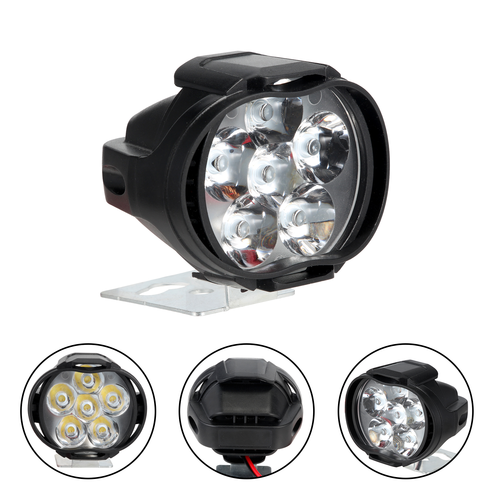 15W Motorcycle LED Light Fog Spot Headlight Working Light For Honda Suzuki KTM