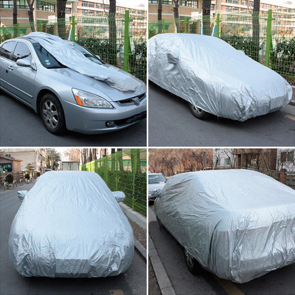 L Size Full Auto Car Cover Sun UV Snow Dust Rain Resistant Protection Waterproof