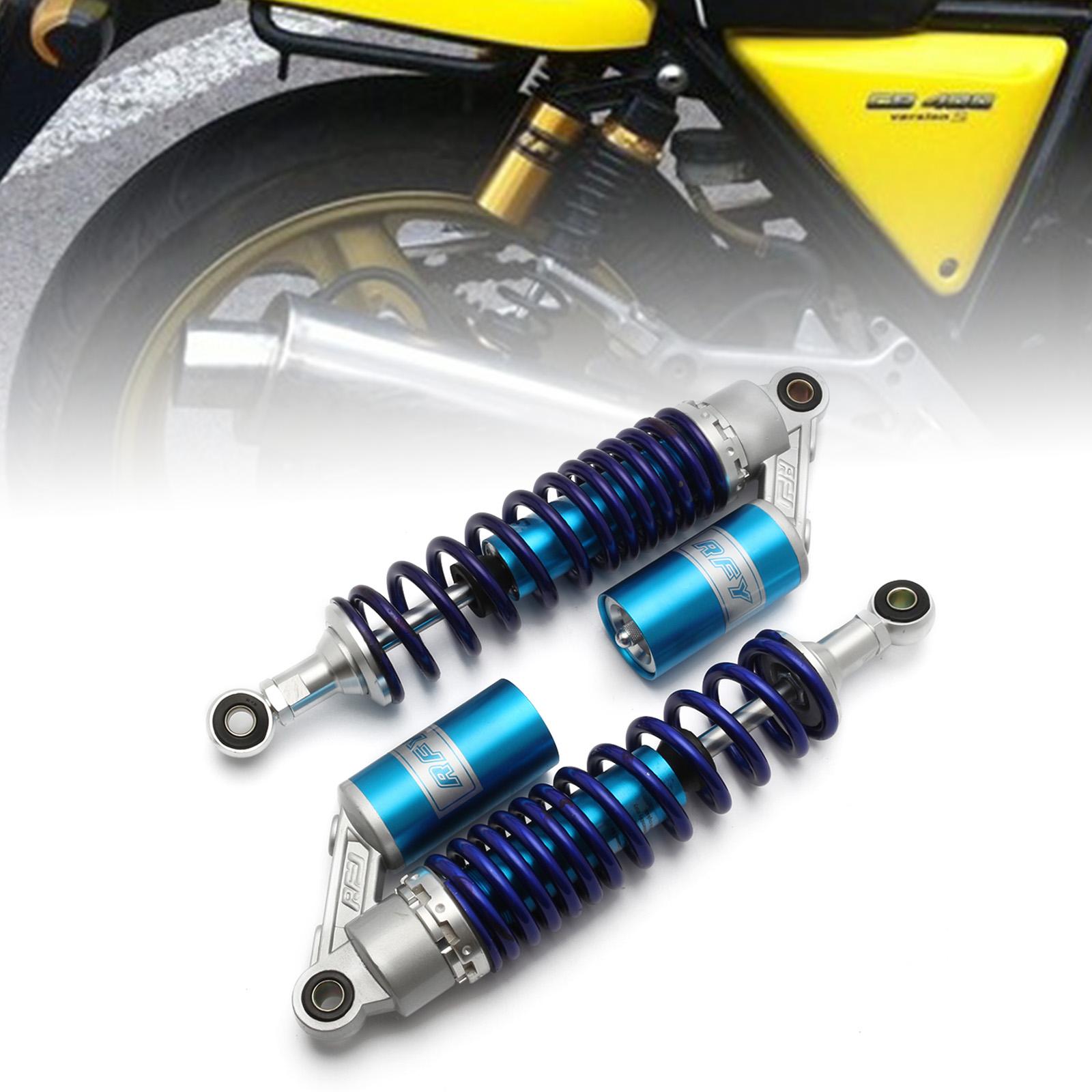 "Motorcycle 340mm 13.5/""  Rear Shock Absorber Air Suspension For Suzuki Honda Blue"