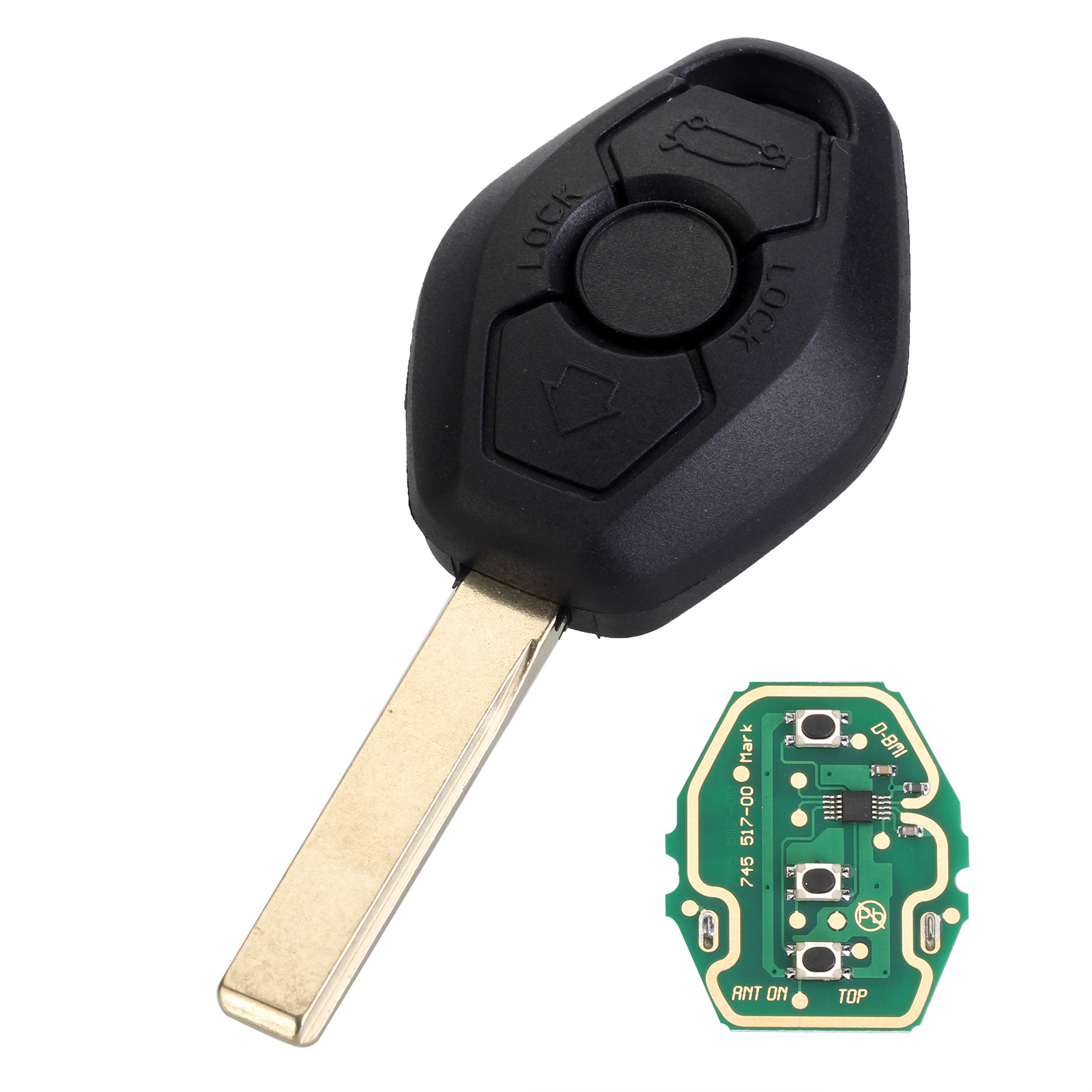 Details about 3 Button Remote Key Fob ID44 Chip 315/433MHz for BMW 325Ci  325i 530i 645Ci M3 X5