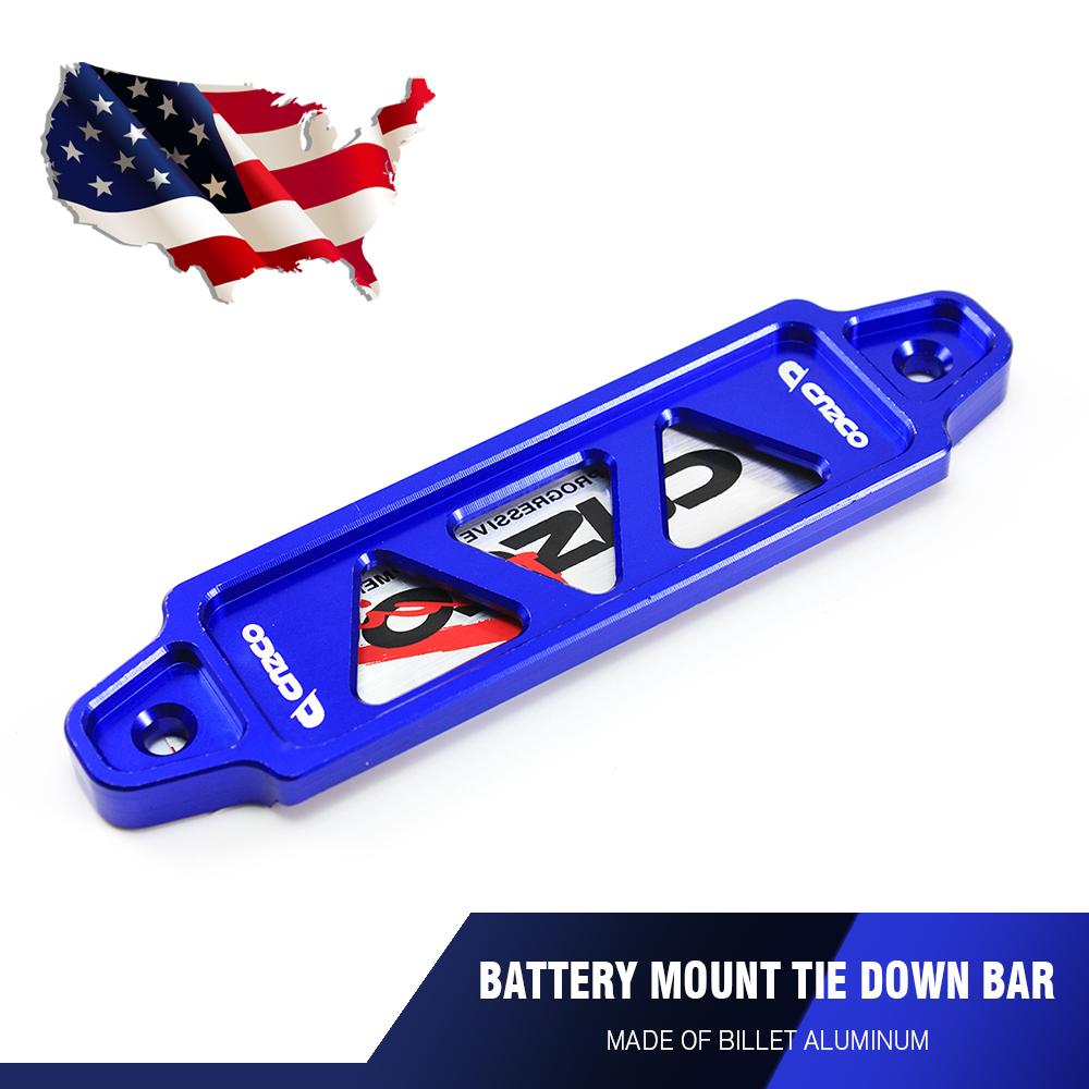 CNC Billet Aluminum Password Battery Tie Down Bar Universal 17cm Auto Car Silver