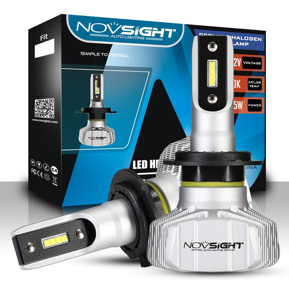 nighteye novsight h7 50w 10000lm csp led autoscheinwerfer birne kit hi low lampe ebay. Black Bedroom Furniture Sets. Home Design Ideas