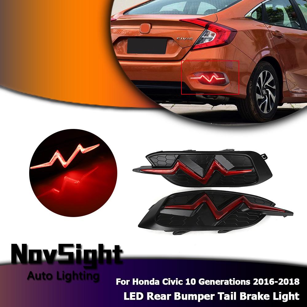 For Honda Civic 10th 16-2017 White+Yellow LED Daytime Running Light Turn Signals