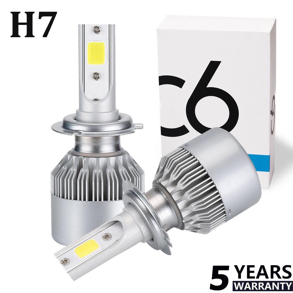 1 paar cob c6 120w 10800lm h7 led lampadine birne for Lampadine h7 led