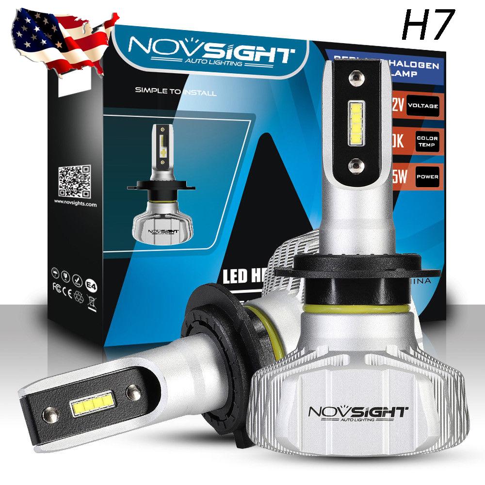 PARTSEE 9005 HB3 Auto Car LED Headlight Bulbs 90W 10000LM 6500K Xenon White Pair