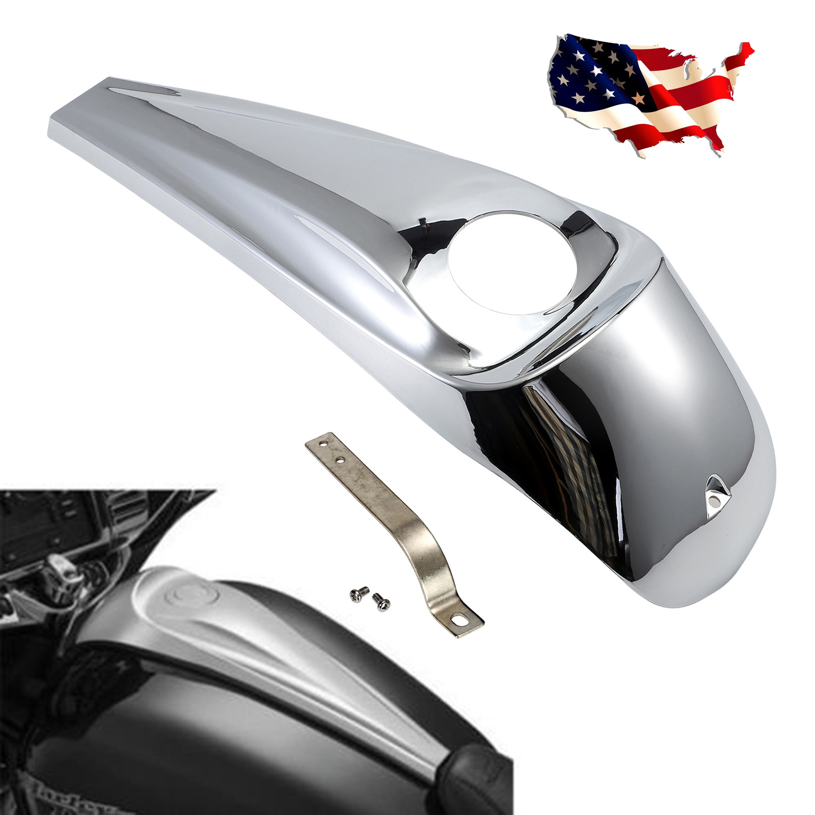 Chrome Motorcycle Smooth Dash Fuel Console For Street Glide Trikes FLHX 08-17 chrome