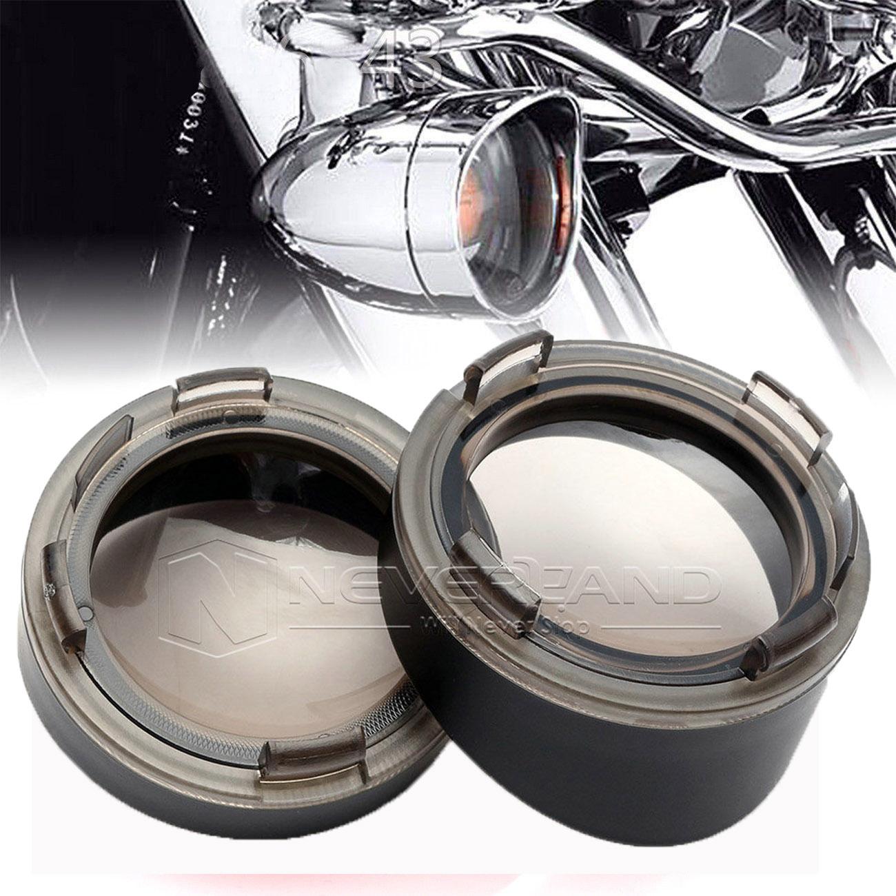 Turn Signal Bezels Visor-Style For Harley Softail Springer Heritage Classic