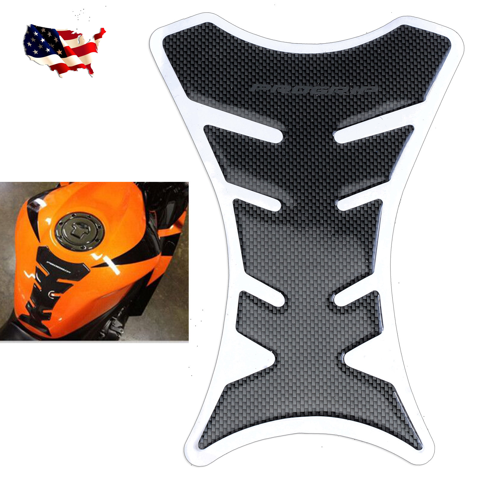 Tank Side Pad Protector Fishbone Sticker Decal For Yamaha YZF 1000 R1 2007 2008