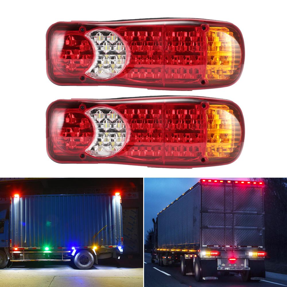 6 Funktionen 2 x LED-R/ücklichter mit 36 LEDs f/ür Anh/änger Wohnwagen 12 V LKW und Trucks