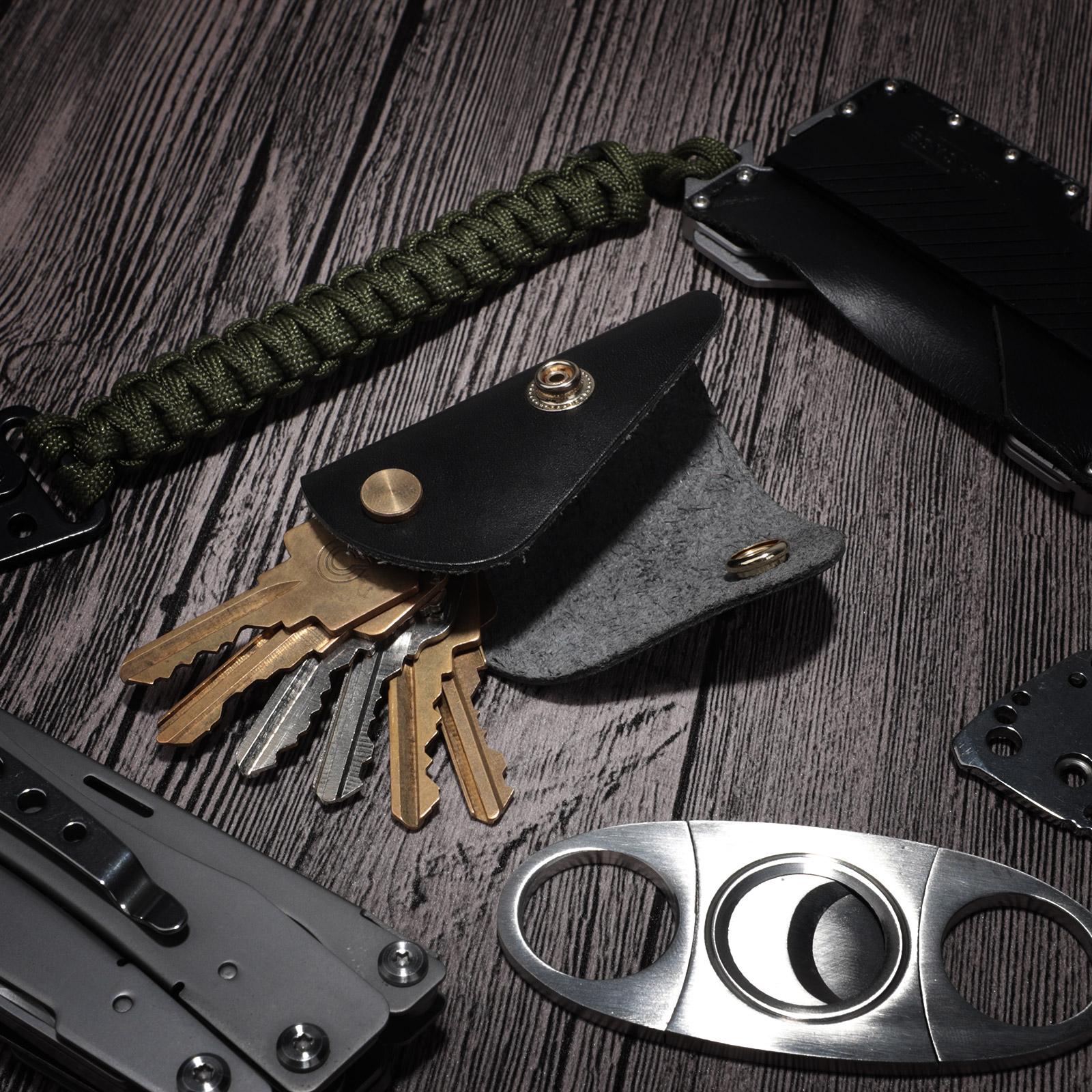 Männer Frauen Kunstleder Litchi Streifen Raster Zipper CarKey Tasche Bunt