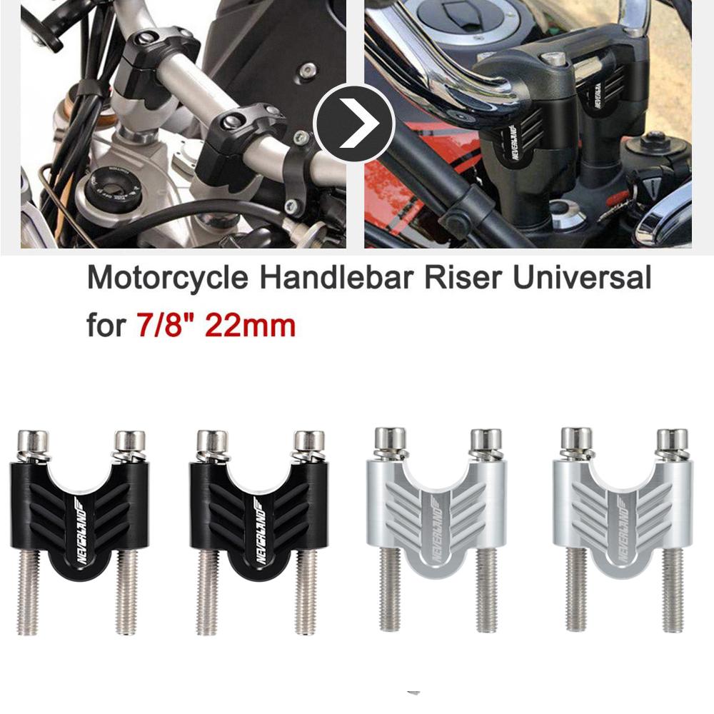 Motocross 28mm CNC Handlebar Bar Mount 30mm Riser Clamp Kit Dirt Bike Silver