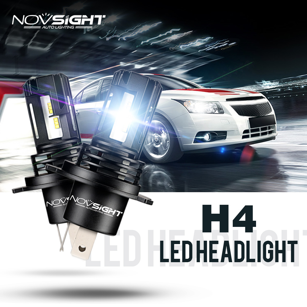 NOVSIGHT 10000LM H4 HB2 9003 LED Headlight Lampen Scheinwerfer Birnen Leuchte