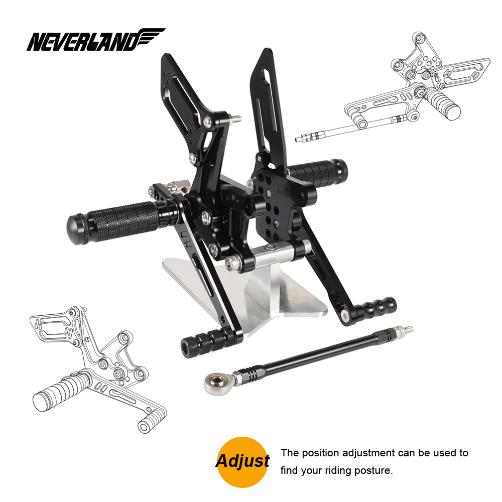 Rear Set Rearset Foot Pedals For GSXR750 96-05 GSXR600 00-05 GSXR1000 2000-2004