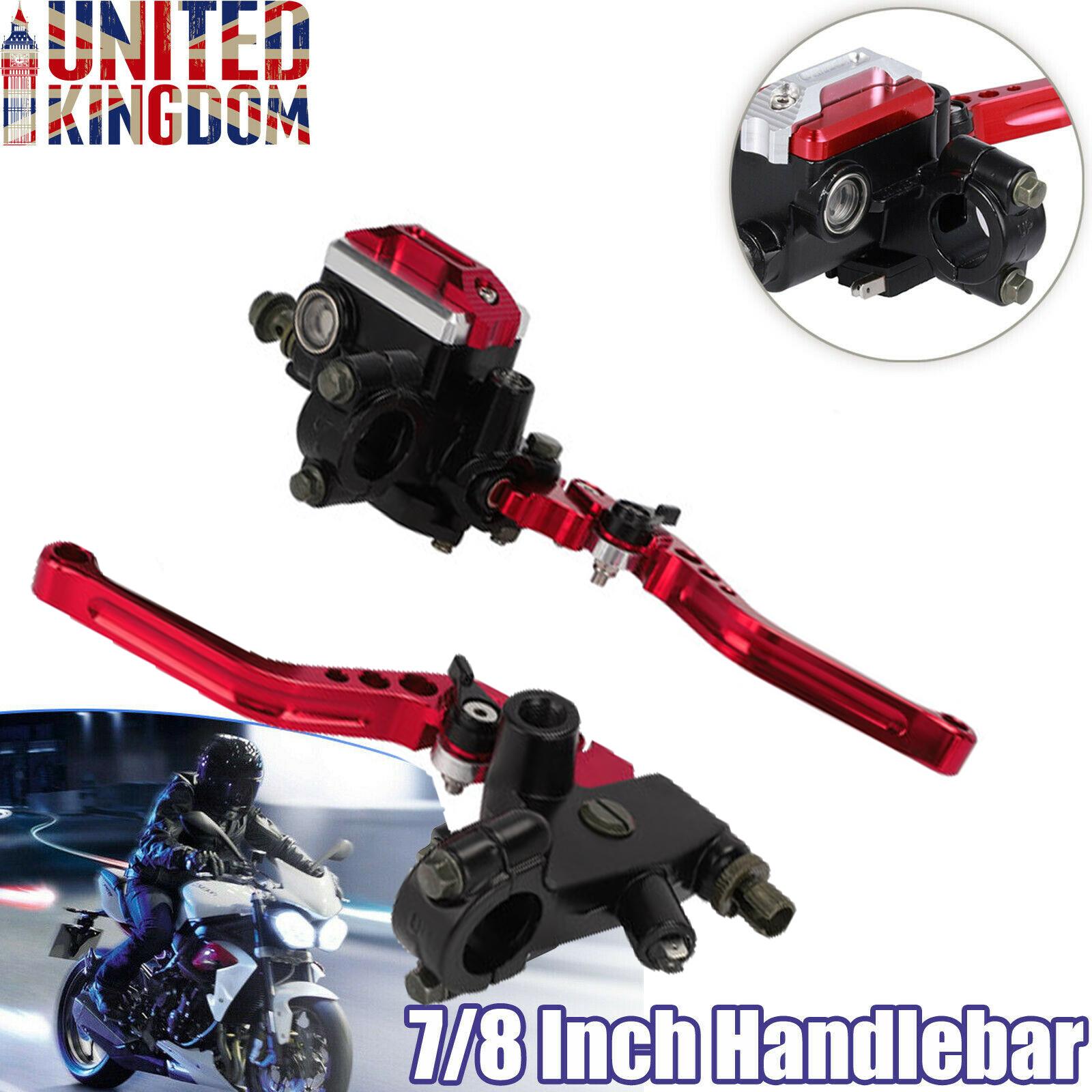 Motorcycle Brake Pump Handles,22mm 7//8 inch CNC Aluminum Hydraulic Cylinder Master Reservoir Lever for Yamaha Honda Suzuki etc Red