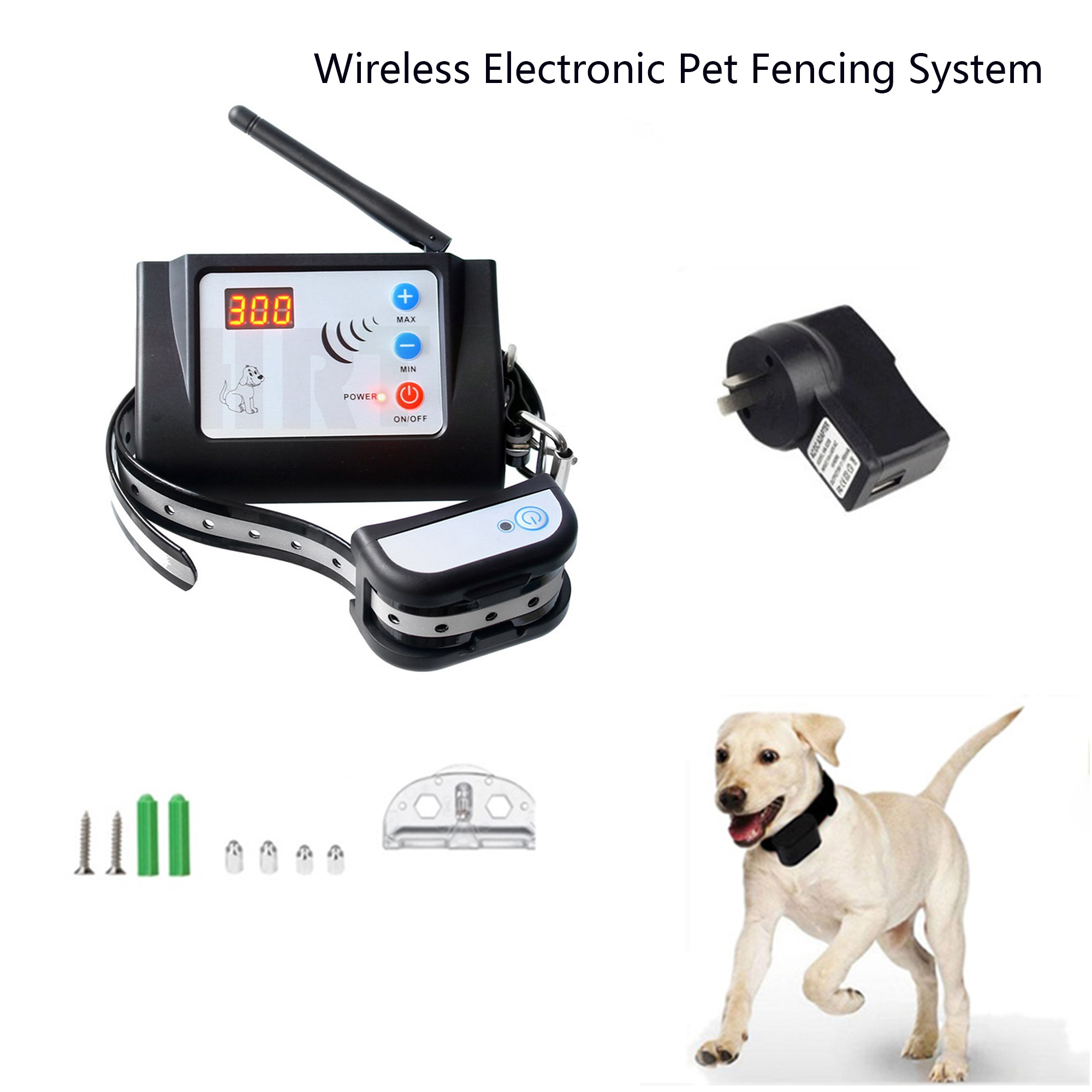 Wireless Remote Dog Fence System Pet Electronic Fencing Device Waterproof Dog Training Collar Electric Shock 0 100 Levels Kd 661 Houses Kennels Pens Aliexpress