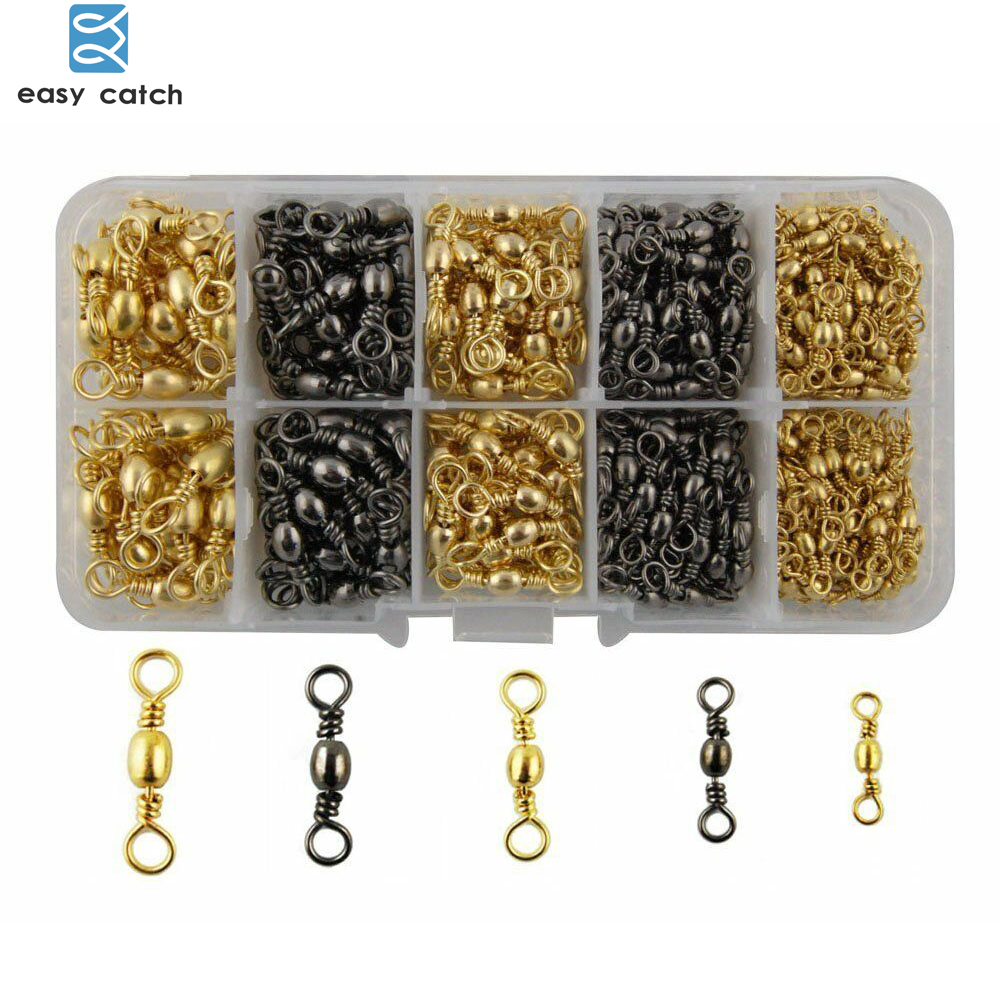 Dispatched from the UK Size #4 Rolling Barrel Fishing swivels