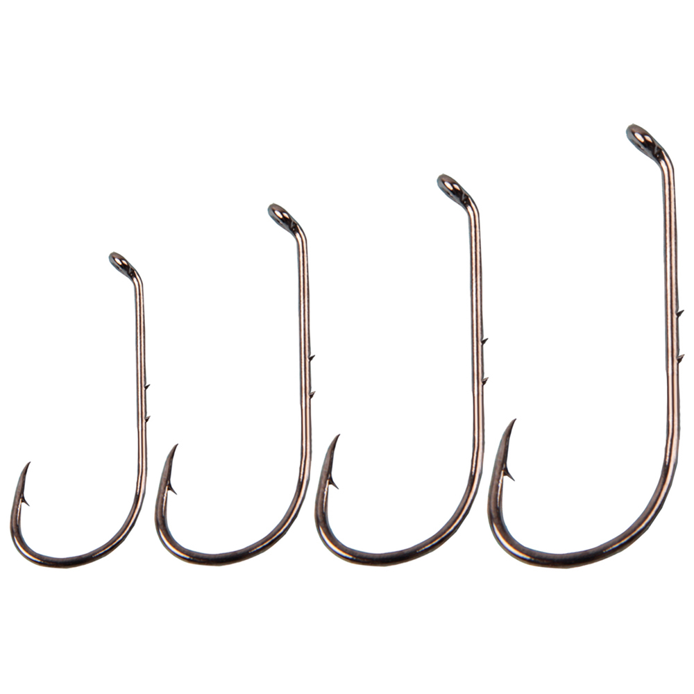 100pcs 7316 2X Bass Jig hook Wide Gap Offset Worm Hook Carbon Steel Fishing Hook
