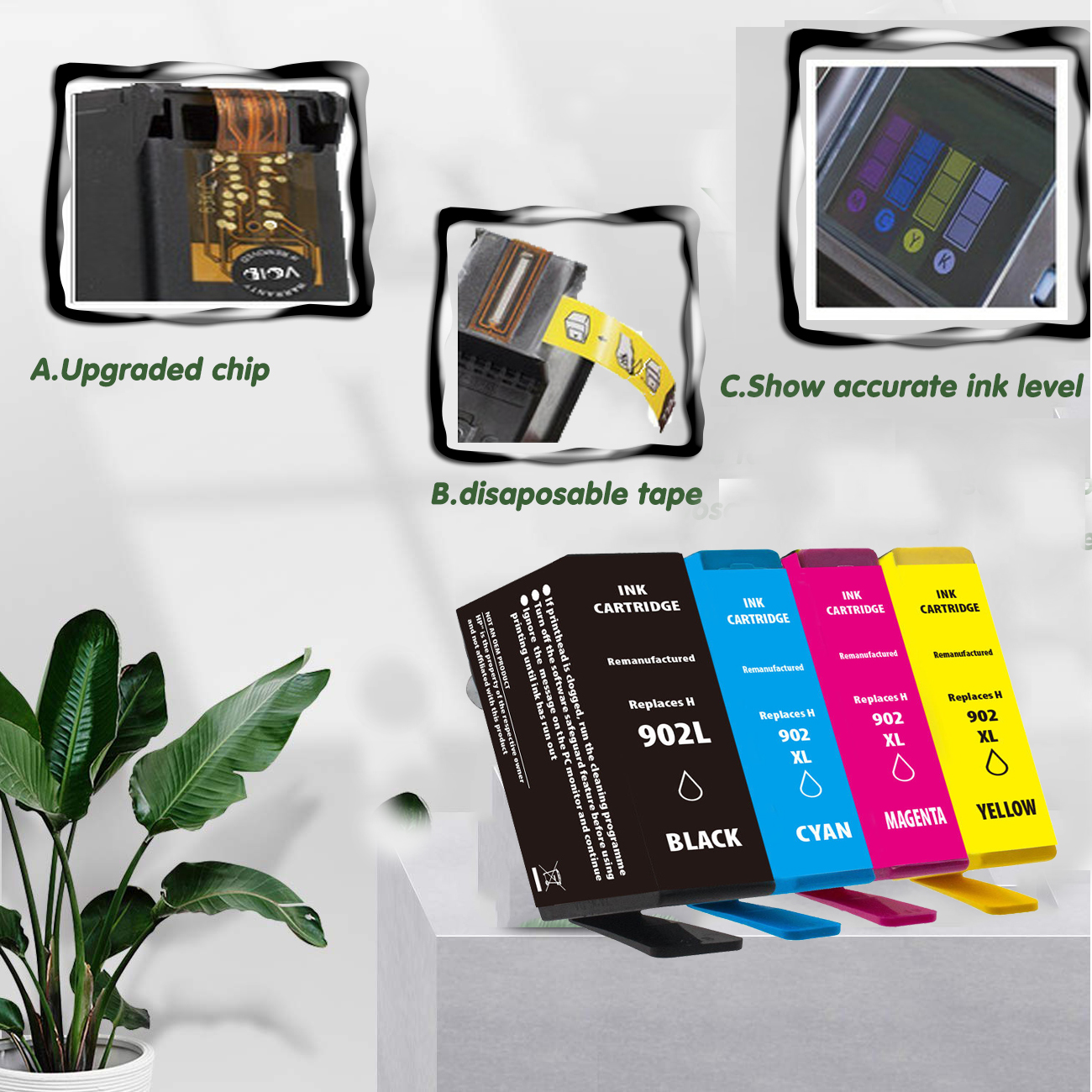 Details about 902XL & 902L Ink Cartridges for HP Pro 6968 6978 6958 6962  6979 6960 6964 6975