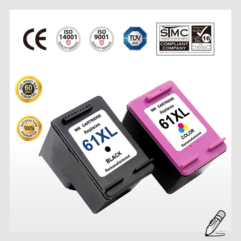 61 XL Black & Color Ink Cartridge Combo For HP 61XL Envy