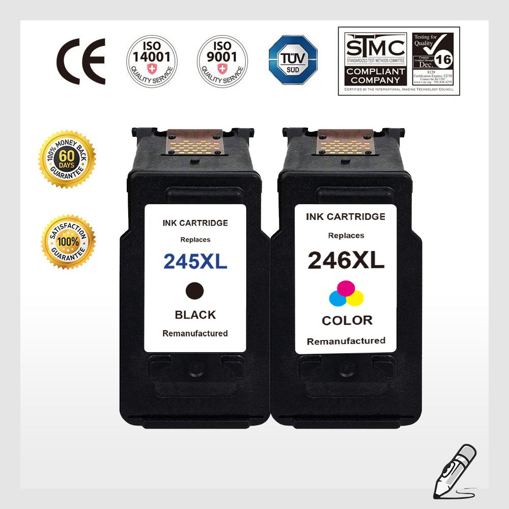 12 Black Ink Cartridge PG245XL for Canon PIXMA iP2820 MG2420 MG2520 MX490 MG2450