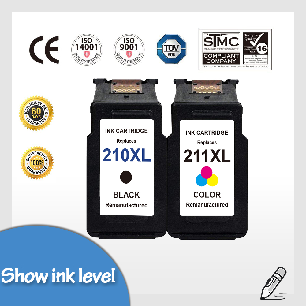PG-210 XL /& CL-211XL Ink Cartridge For Canon PIXMA MP495 iP2702 iP2700 MX340