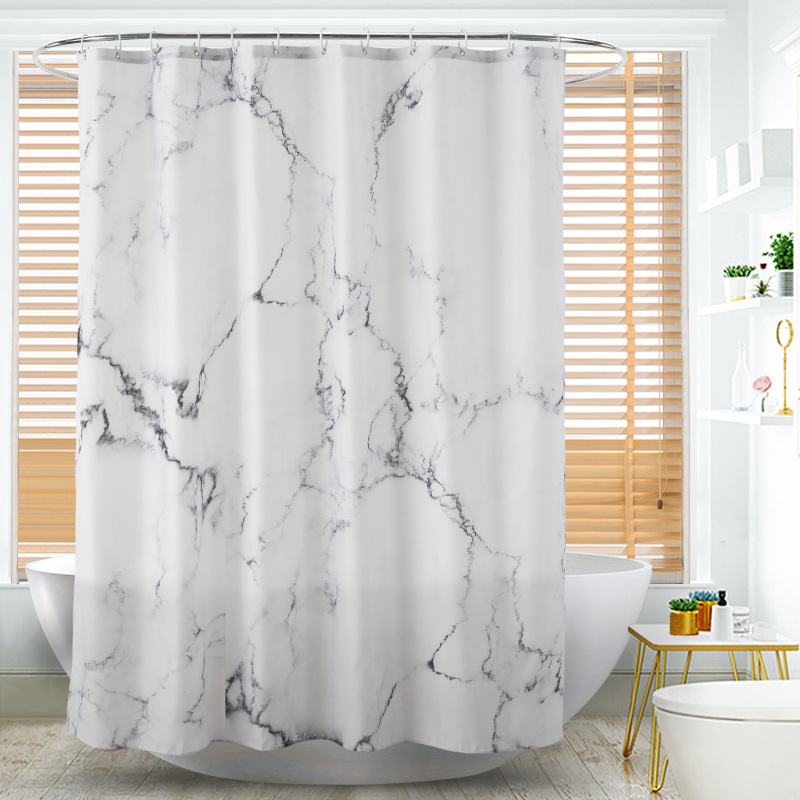 Sensational Details About Marble Pattern Fabric Shower Curtain Set 12 Hooks Bathroom Bathroom Curtains Uk Download Free Architecture Designs Lukepmadebymaigaardcom