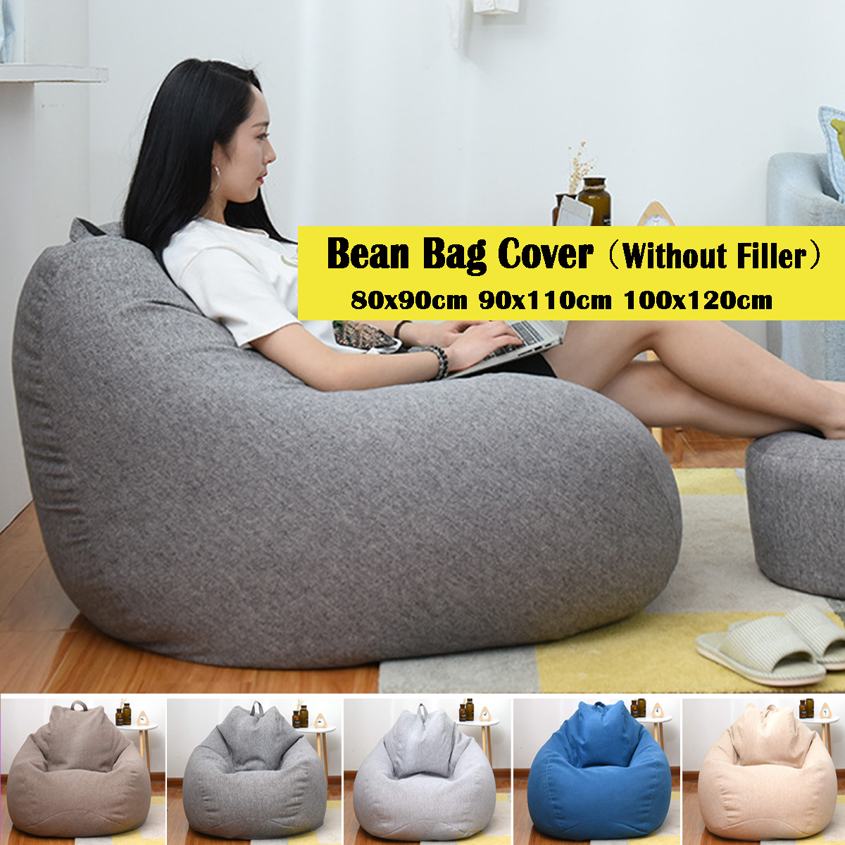 Stupendous Details About Adults Kid Large Bean Bag Chairs Sofa Cover Indoor Lounger Soft Sofa No Filling Ibusinesslaw Wood Chair Design Ideas Ibusinesslaworg