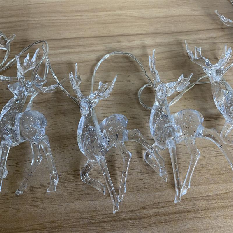 Christmas Deer String Fairy Lights Xmas Tree LED Twinkle Lights Garden Decor UK