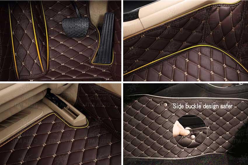 3D Custom Made Ford Ranger XLS XLT Floor Mats Front + Rear 12-19 Beige STITCH