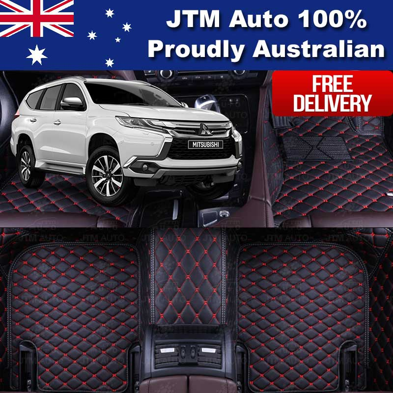 Custom Made For Mitsubishi Pajero Sport Floor Mats Leather Front+Rear 2016-2018