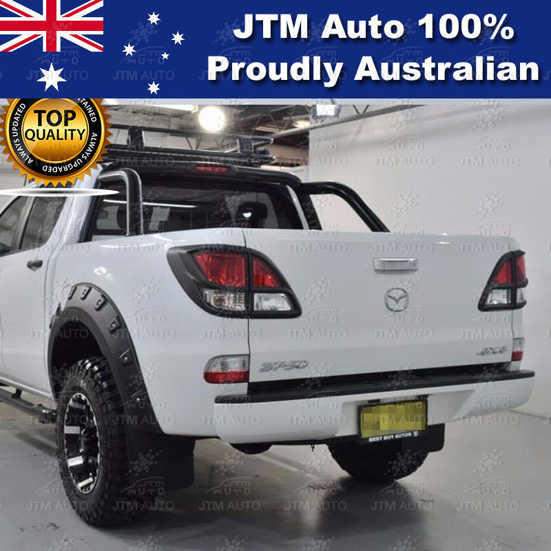 MATT Black Tail Light Cover Trim to suit Mazda BT-50 BT50 2012-2018