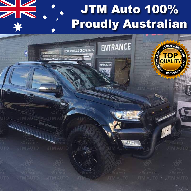 ADR Approved Black 3 Inch Nudge Bar to suit Ford Ranger Tech Pack + Sensor 2015-2018