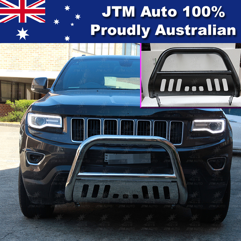 "Matt Black Nudge Bar 3"" Steel Grille Guard to suit Jeep Grand Cherokee 2011-2018"
