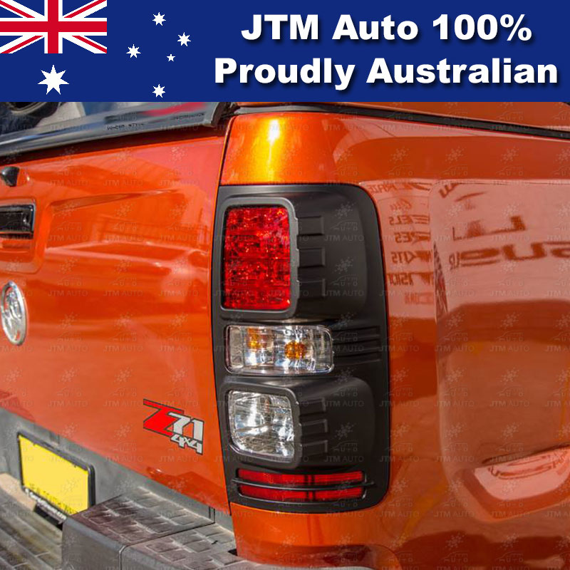 MATT Black Tail Light Cover Trim to suit Holden Colorado 2012-2018
