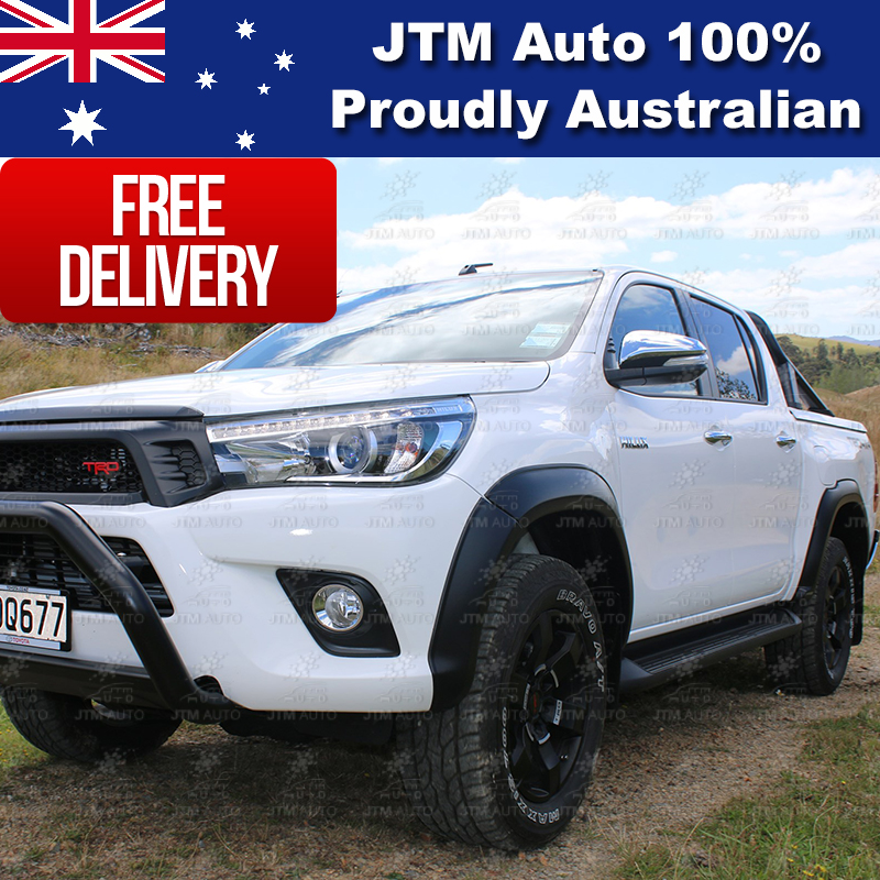 Matte Black 6 Pcs Fender Flares Wheel Arch Suitable For Toyota Hilux 2015-2018