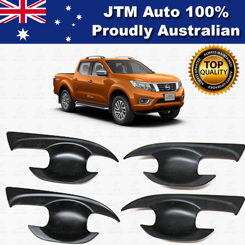 MATT Black Door Bowl Cover Protector to suit Nissan Navara NP300 2015-2018