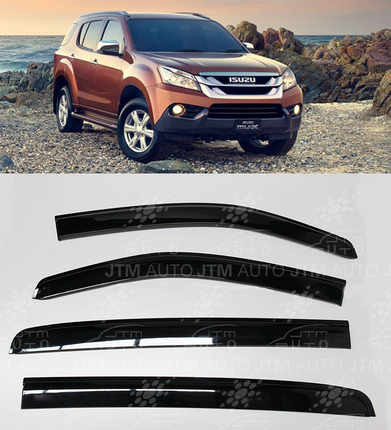Weathershields Window Visors Weather shields For Isuzu MUX MU-X 2013-2018