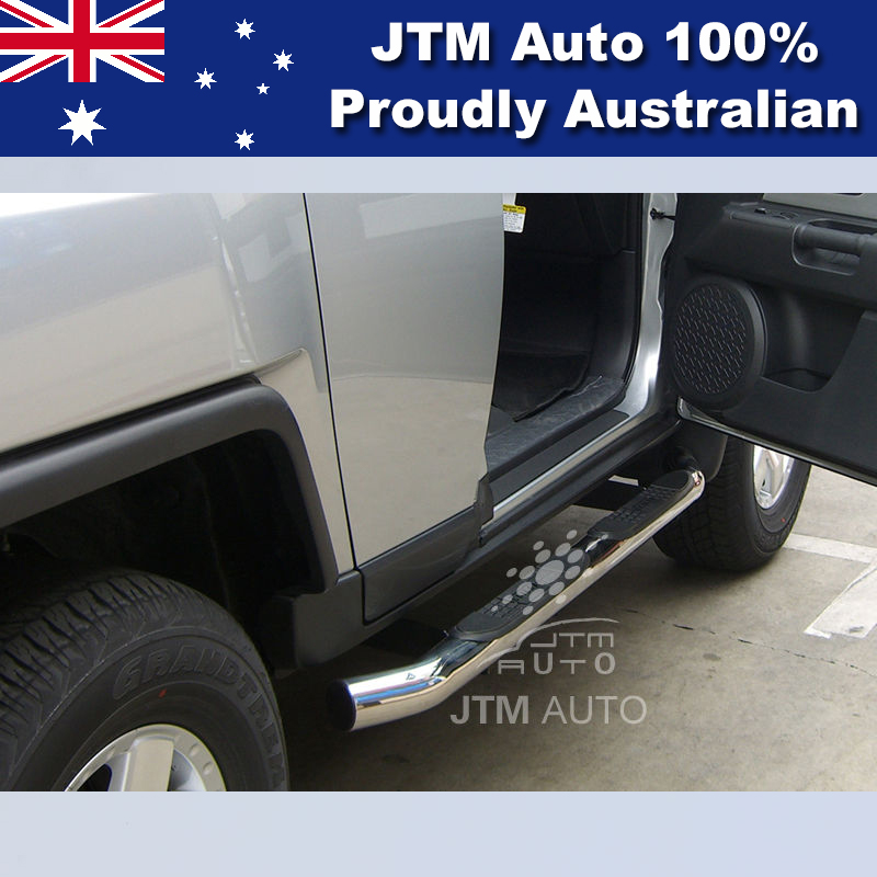 "Side Steps Running Boards 3"" Black Suitable For Toyota FJ Cruiser 2007-2016"
