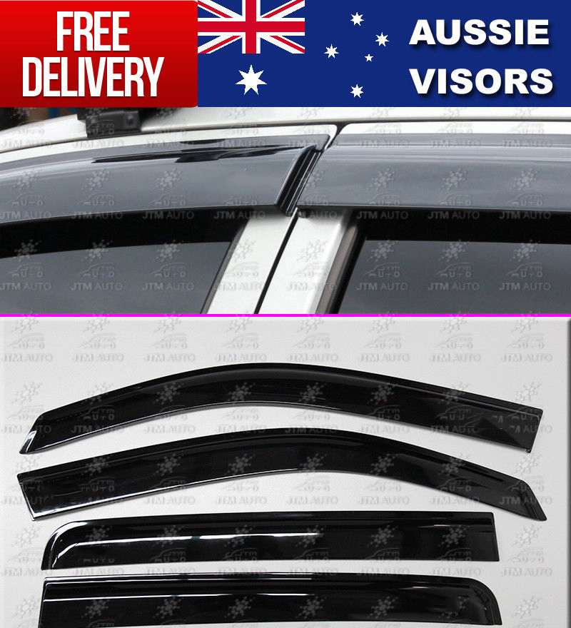 Injection Weather Shields Window Door Visors For ISUZU D-max Dmax 2012-2019