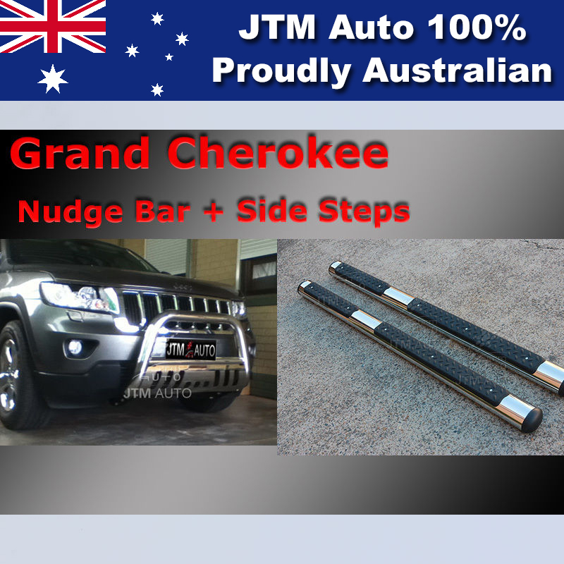 Side Steps + Nudge Bar Stainless Steel to suit Jeep Grand Cherokee 2011-2019