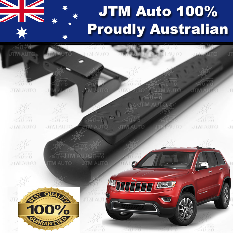 "Black 4"" Running Boards Side Steps to suit Jeep Grand Cherokee 2011-2019"
